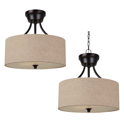 Sea Gull Lighting - Two Light Semi-Flush Convertible Pendant - 77952-710