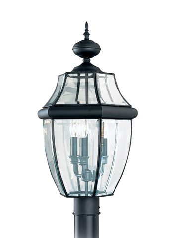 Sea Gull Lighting - Three Light Outdoor Post Lantern - 8239-12