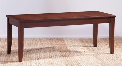 Saloom Furniture - Wood Seat Bench - BN-W 45 SBR