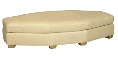 Stanford - Park City Wedge Ottoman - 1438-OWDG