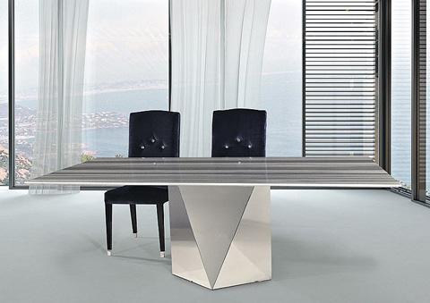 Stone International - Pedestal Dining Table - 4106/S