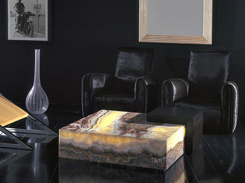 Stone International - Square Cocktail Table - 3014/L