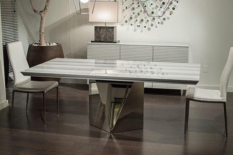 Stone International - Freedom Steel Dining Table - 4116/L