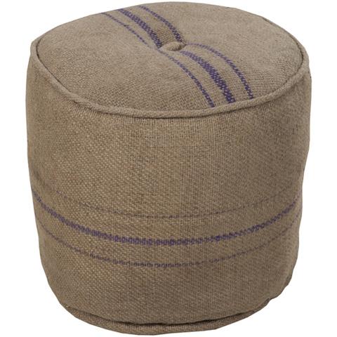 Surya - Decorative Round Pouf - POUF-13