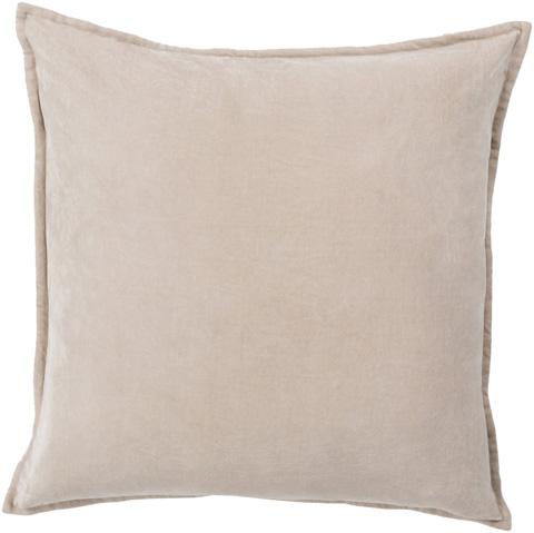 Surya - Gray Square Cotton 18 x 18 Accent Pillow - CV005-1818P