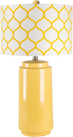 Surya - Yellow Hadley Lamp - HALP-002