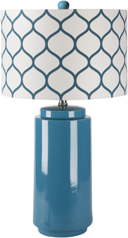 Surya - Blue Hadley Lamp - HALP-003