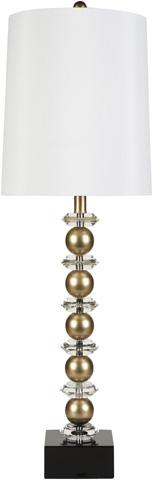 Surya - Gold Sphere Floor Lamp - LMP-1020