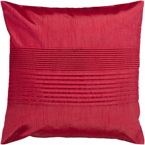 Surya - Solid Pleated Throw Pillow - HH025-1818D