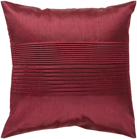 Surya - Solid Pleated Throw Pillow - HH026-1818D