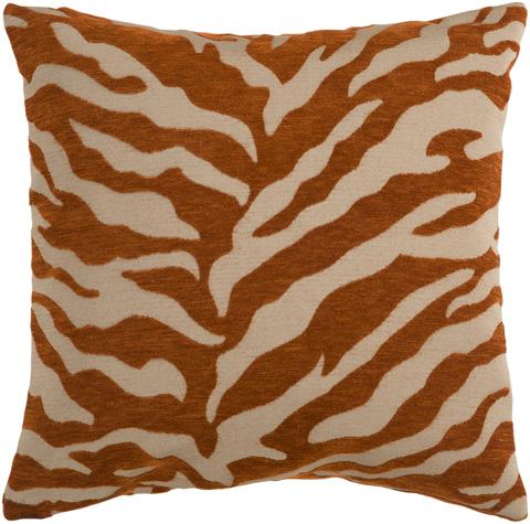 Surya - Velvet Zebra Throw Pillow - JS028-1818D