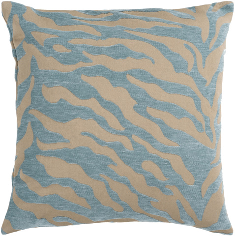 Surya - Velvet Zebra Throw Pillow - JS030-1818D