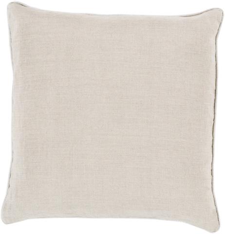 Surya - Linen Piped Throw Pillow - LP008-1818D