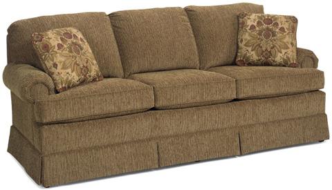 Temple Furniture - Three Cushion Skirted Sofa - 980-84