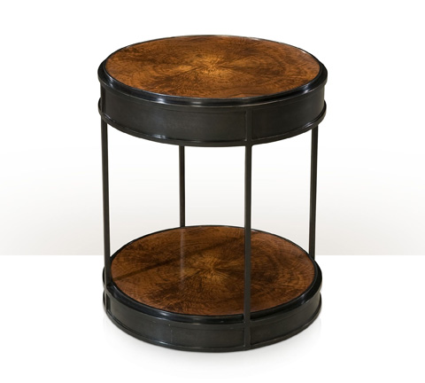 Theodore Alexander - Walnut Drum Accent Table - 5021-229