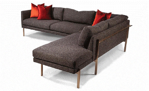 Thayer Coggin - Drop In Sectional in Brushed Bronze - 1314-402-B