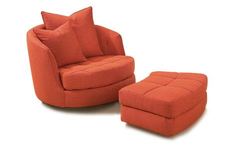 Thayer Coggin - Giant Swivel Tub Chair by Milo Baughman - 956-000