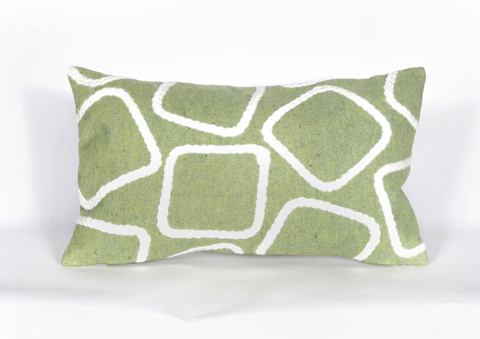 Trans-Ocean Import Co., Inc. - Visions I Squares Lime Pillow - 7SA1S408716