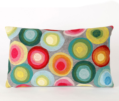 Trans-Ocean Import Co., Inc. - Visions II Puddle Dot Multi Pillow - 7SB1S412844