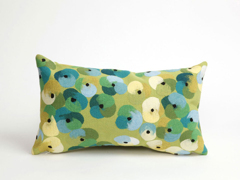 Trans-Ocean Import Co., Inc. - Visions II Pansy Lime Pillow - 7SB1S413806