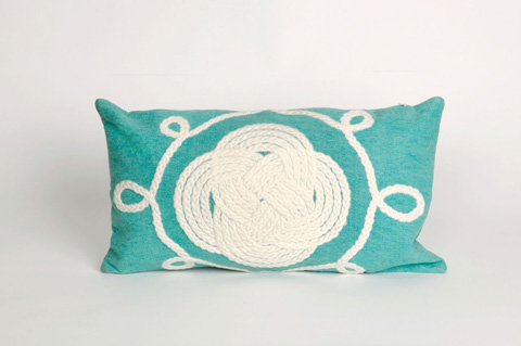 Trans-Ocean Import Co., Inc. - Visions II Ornamental Knot Aqua Pillow - 7SB1S414304