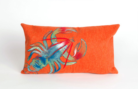 Trans-Ocean Import Co., Inc. - Visions II Lobster Orange Pillow - 7SB1S415317