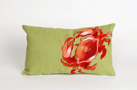Trans-Ocean Import Co., Inc. - Visions II Crab Red Pillow - 7SB1S415424