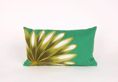 Trans-Ocean Import Co., Inc. - Visions II Palm Fan Teal Pillow - 7SB1S416804