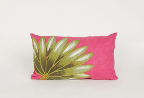 Trans-Ocean Import Co., Inc. - Visions II Palm Fan Hot Pink Pillow - 7SB1S416807