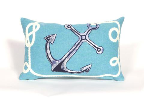 Trans-Ocean Import Co., Inc. - Visions II Marina Aqua Pillow - 7SB1S418404