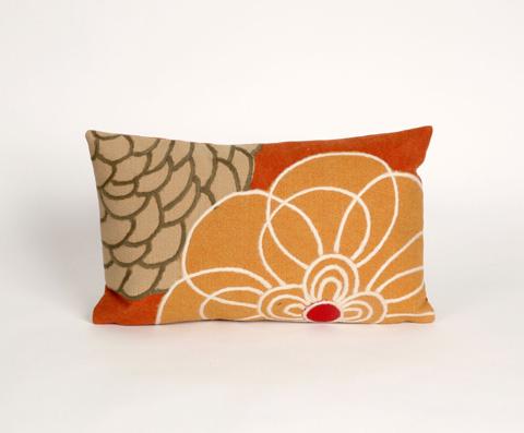 Trans-Ocean Import Co., Inc. - Visions III Disco Orange Pillow - 7SC1S411897