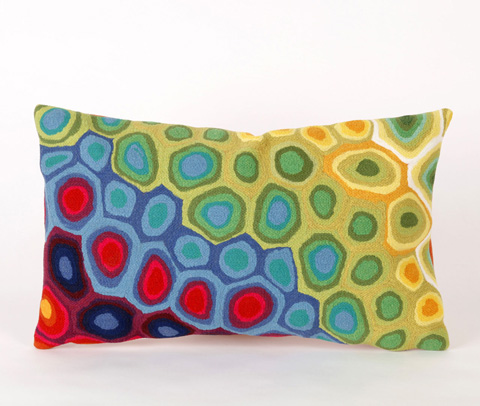 Trans-Ocean Import Co., Inc. - Visions III Pop Swirl Multi Pillow - 7SC1S412744