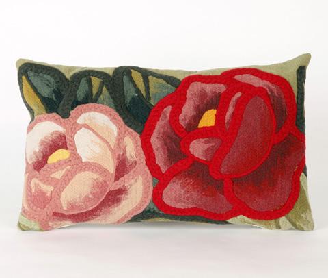 Trans-Ocean Import Co., Inc. - Visions III Crochet Flower Green Pillow - 7SC1S413006