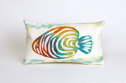 Trans-Ocean Import Co., Inc. - Visions III Rainbow Fish Pearl Pillow - 7SC1S415212