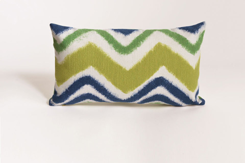 Trans-Ocean Import Co., Inc. - Visions III Zigzag Ikat Kelly Pillow - 7SC1S416703