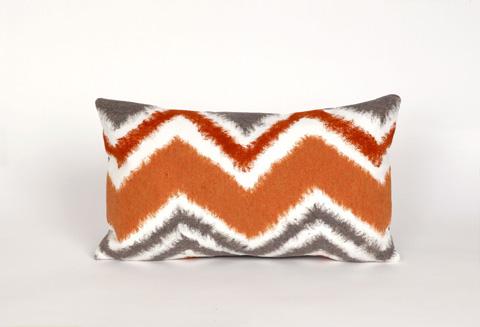 Trans-Ocean Import Co., Inc. - Visions III Zigzag Ikat Orange Pillow - 7SC1S416717