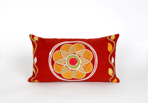 Trans-Ocean Import Co., Inc. - Visions III Maroma Red Pillow - 7SC1S417024
