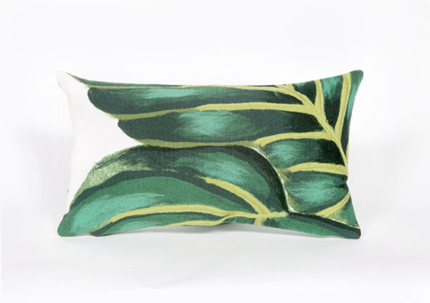 Trans-Ocean Import Co., Inc. - Visions III Banana Leaf Emerald Pillow - 7SC1S417716
