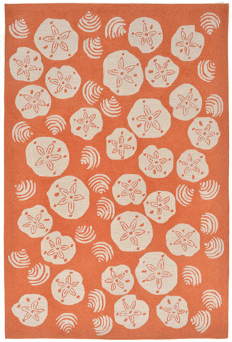 Trans-Ocean Import Co., Inc. - Frontporch Shell Toss Coral 5x8 Rug - FTP57140818