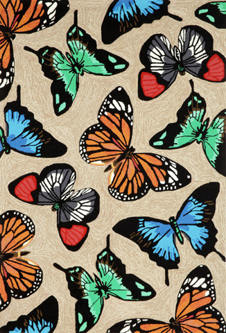 Trans-Ocean Import Co., Inc. - Frontporch Butterfly Dance Multi 5x8 Rug - FTP57143944