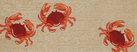 Trans-Ocean Import Co., Inc. - Frontporch Crabs Natural 2x8 Rug - FTPR6140412