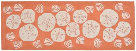 Trans-Ocean Import Co., Inc. - Frontporch Shell Toss Coral 2x8 Rug - FTPR6140818