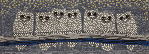 Trans-Ocean Import Co., Inc. - Frontporch Owls Night 2x8 Rug - FTPR6144347
