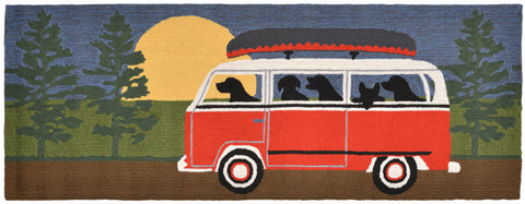 Trans-Ocean Import Co., Inc. - Frontporch Camping Trip Red 2x8 Rug - FTPR6147424