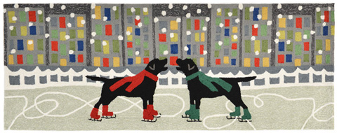 Trans-Ocean Import Co., Inc. - Frontporch Holiday Ice Dogs Multi 2x8 Rug - FTPR6152644