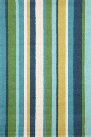 Trans-Ocean Import Co., Inc. - Newport Vertical Stripe Seaside 5x8 Rug - NWP57166004