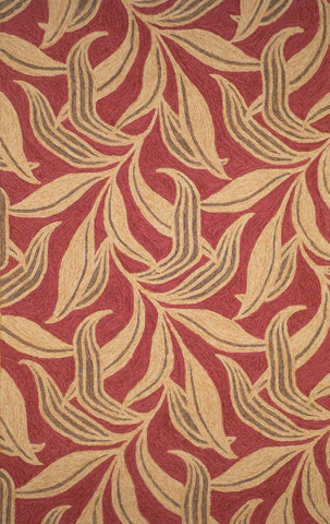 Trans-Ocean Import Co., Inc. - Ravella Leaf Red 5x8 Rug - RVL57190224