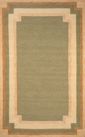 Trans-Ocean Import Co., Inc. - Ravella Border Green 5x8 Rug - RVL57190506