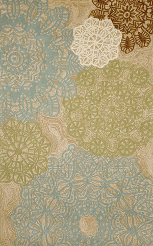 Trans-Ocean Import Co., Inc. - Ravella Crochet Aqua 5x8 Rug - RVL57197104