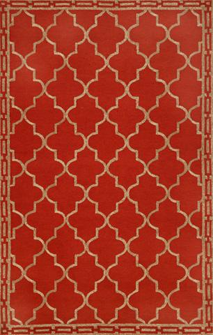 Trans-Ocean Import Co., Inc. - Ravella Floor Tile Red 5x8 Rug - RVL57197624
